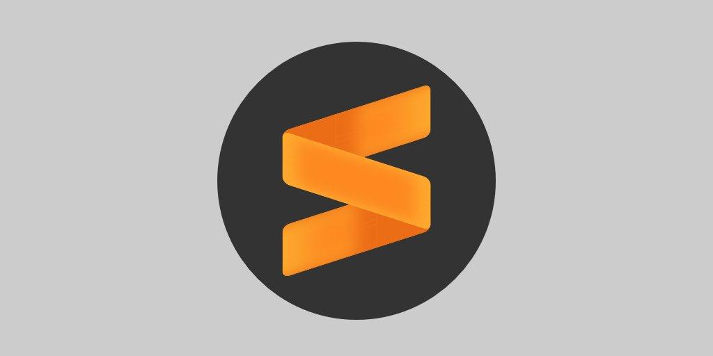 Sublime Text editor de texto, elemento del software de programación