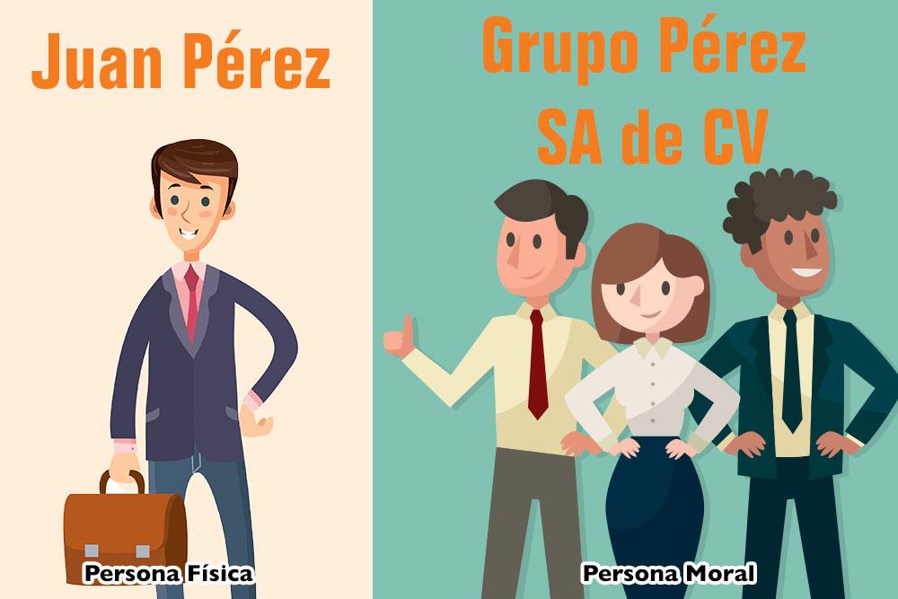 La diferencia entre las personas físicas y morales