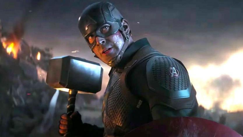 Publicidad de Avengers Endgame haciendo promoción a la historia del Capitán América