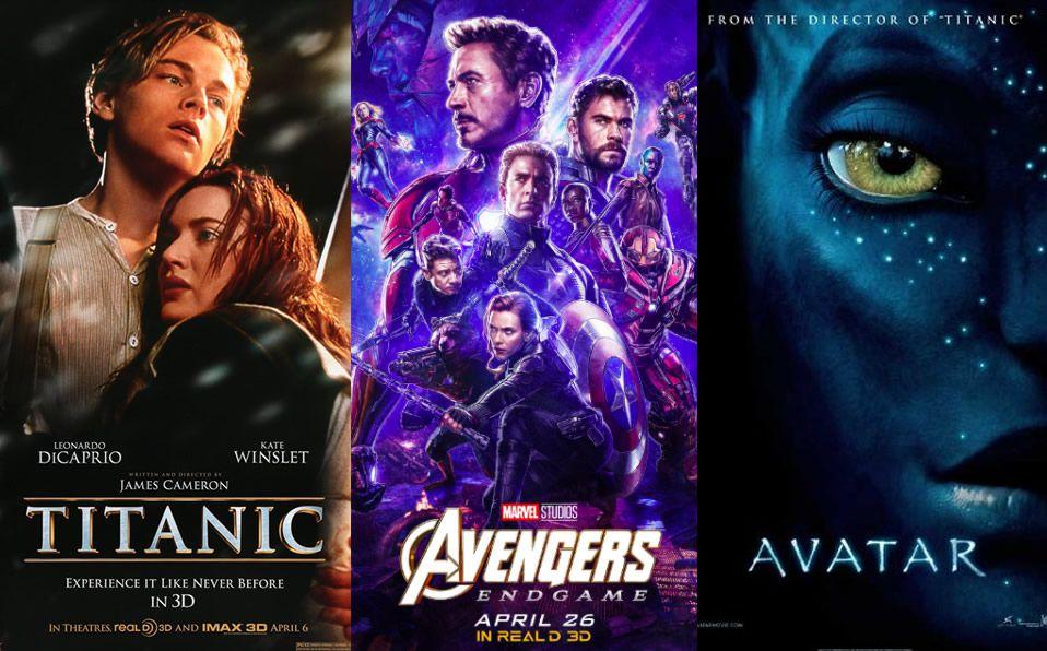 Ejemplos de las películas mas taquilleras.