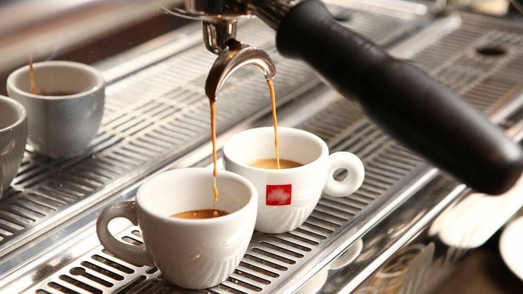 Ejemplo de extracción de café en una máquina Expresso.