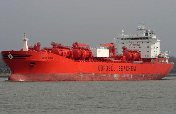 Buque de cargas químicas - medios de transporte del comercio internacional