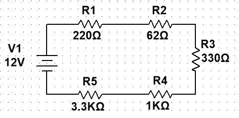Elementos de los circuitos eléctricos en serie cálculos de RT