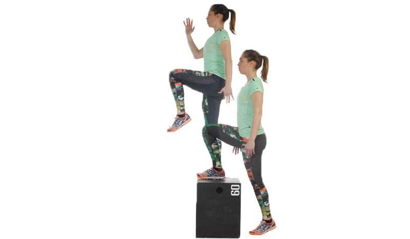 Como hacer ejercicio desde casa, subir y bajar el cajón