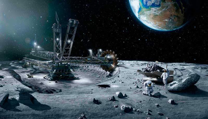 Minería de asteroides en la Tierra nueva forma de extracción.