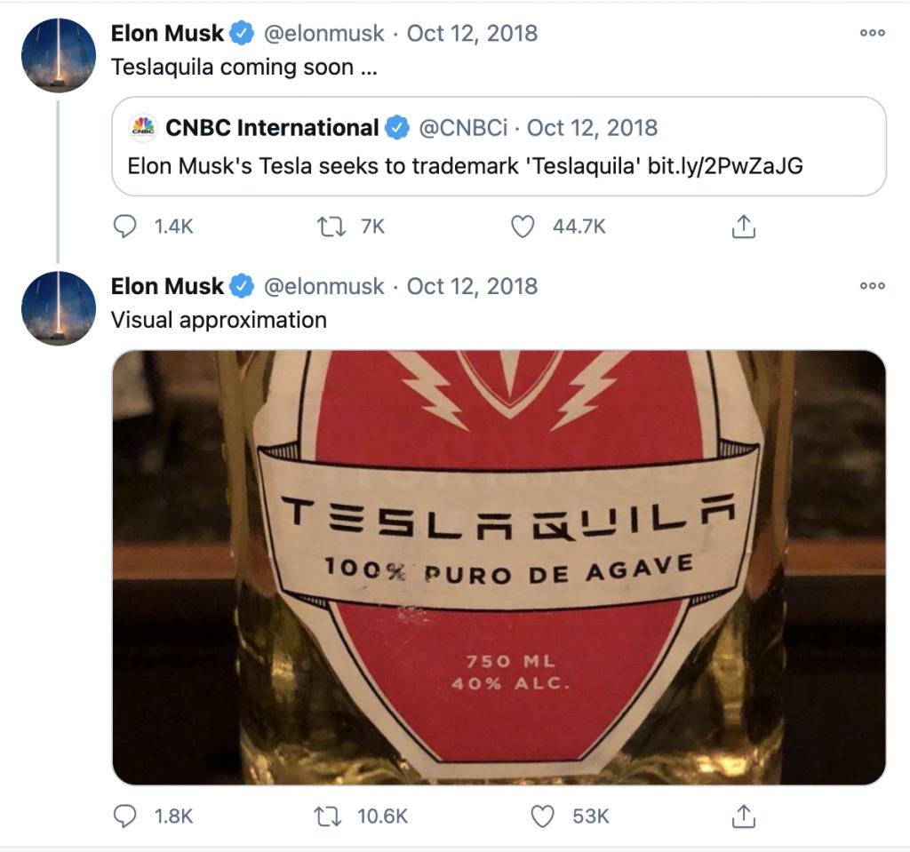 """¡Elon Musk perdió la batalla contra los productores de Tequila en México! ¡Teslaquila no pudo ser registrado, puedes probar el """"Tequila Tesla""""!"""